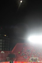 The moon, the floodlights.