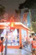 Outside, a cafe hosted a new image of Maradona to go with the golden statue already present.